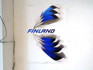 エリックブルーン Erik Bruun フィンランド展出展作品 FINLAND グラフィックデザイナー B1サイズ ★