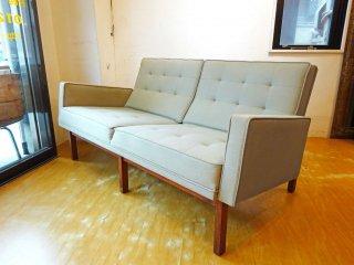 モダニカ MODERNICA Split Rail Arm Sofa 2シーター ソファ ファブリック ウォールナットベース ★