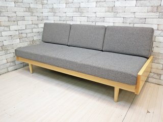 相合家具 SOGOKAGU × グラフ graf デイベッドソファ L 3Pソファ ホワイトアッシュ材 定価¥288,000- ●