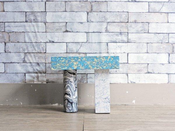トム・ディクソン TOM DIXON スワールテーブル SWIRL TABLE LOW サイドテーブル 大理石 定価¥217,800- ●