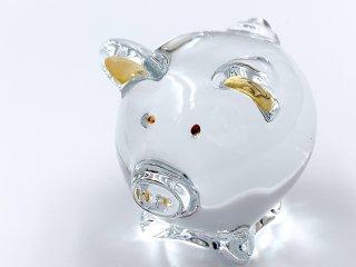 バカラ Baccarat オブジェ 置物 ミニマルズ MINIMALS コション COCHON ピック ブタさん 豚 クリスタルガラス フランス 廃盤 ◎
