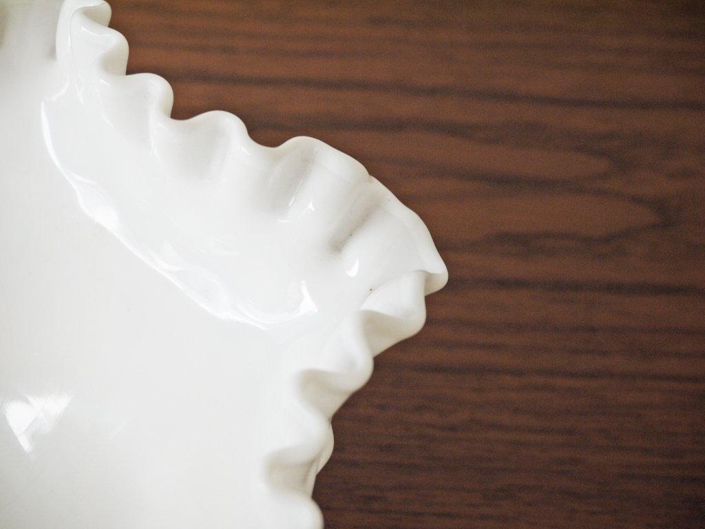 フェントン FENTON ホブネイル フルーツボウル 20cm ミルクガラス アメリカ ◇