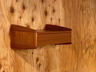 デンマークビンテージ Danish Vintage 50's メルヴィンミケルセンモブラー Melvin Mikkelsen Mobler ウォールラック ナイトスタンド 抽斗 北欧家具 ■