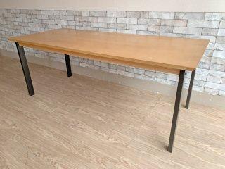 ウニコ unico ホクストン HOXTON ダイニングテーブル アッシュ材 アイアン W186 ナチュラルカラー ¥87,780- B  ●