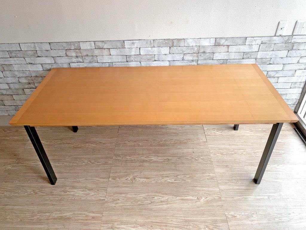ウニコ unico ホクストン HOXTON ダイニングテーブル アッシュ材 アイアン W186 ナチュラルカラー ¥87,780- C  ●