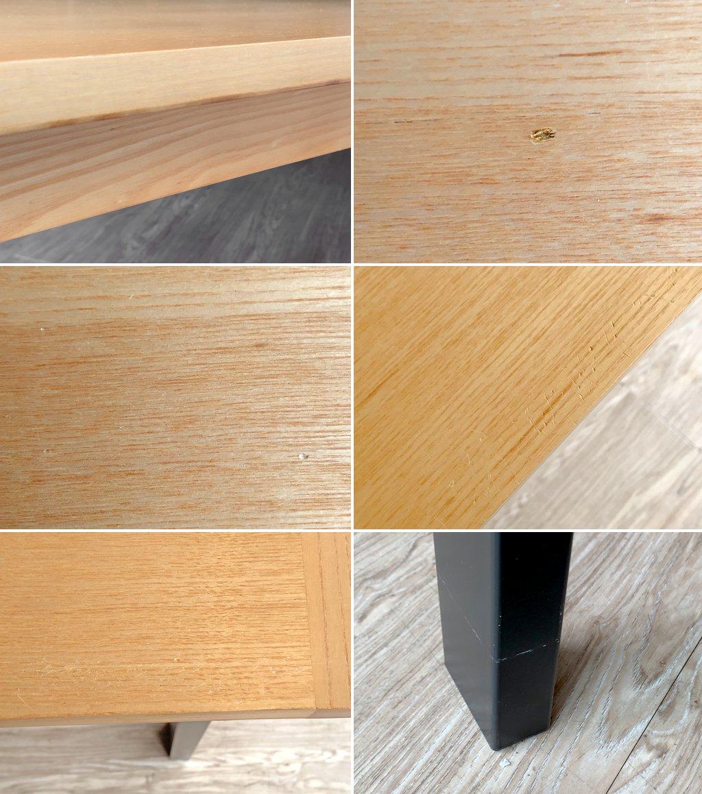 ウニコ unico ホクストン HOXTON ダイニングテーブル アッシュ材 アイアン W186 ナチュラルカラー ¥87,780- D  ●