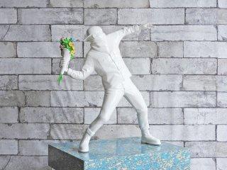 メディコムトイ MEDICOM TOY Sync.×BRANDALISM フラワーボンバー FLOWER BOMBER バンクシー BANKSY フィギュア オブジェ 箱付 廃番 ●