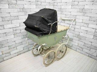 シルバークロス Silver cloth ストローラー Stroller ベビーカー 乳母車 ワゴン シャビーシック 店舗什器 UKビンテージ Vintage 英国アンティーク ●