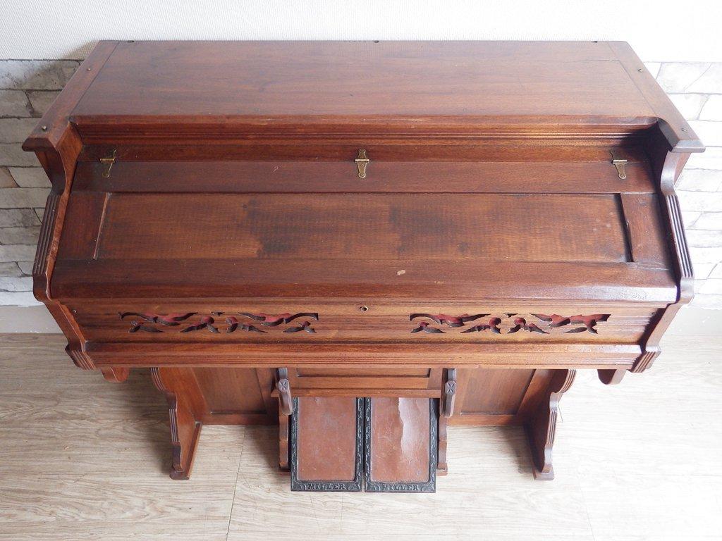 ミラーオルガンカンパニー Miller Organ Company 足踏みオルガン 鍵盤 USビンテージ Vintage 現状品 ●