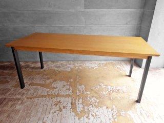 ウニコ unico ホクストン HOXTON ダイニングテーブル アッシュ材 アイアン W186 ナチュラルカラー 参考定価87,780円 A ♪