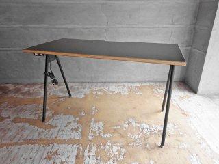 ジャーナルスタンダードファニチャー journal standard Furniture コンパスレッグデスク W120 ブラック コンセント付 ASKUL取扱 定価¥16,390- ♪