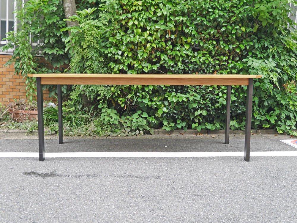 ウニコ unico ホクストン HOXTON ダイニングテーブル アッシュ材 アイアン W186 ナチュラル 廃番カラー 定価¥87,780- ■