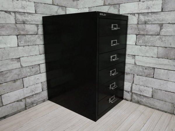 ビスレー BISLEY ベーシック BASICシリーズ BA3/6 A3 デスクキャビネット ブラック 抽斗6杯 オフィス家具 英国 C ●