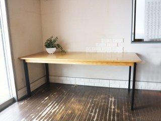 ウニコ unico ホクストン HOXTON ダイニングテーブル アッシュ材 アイアン W186 ナチュラルカラー 参考定価87,780円 ◎