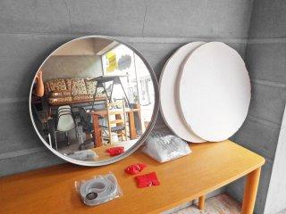 ヘイ HAY ストラップミラー STRAP MIRROR Φ70 ウォールミラー グレー 壁掛け鏡 北欧家具 ダニッシュモダン 未使用 美品 A ♪