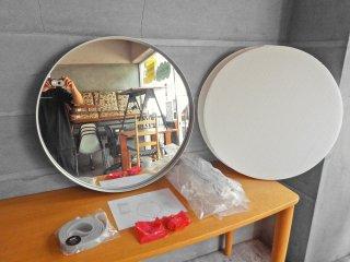 ヘイ HAY ストラップミラー STRAP MIRROR Φ70 ウォールミラー グレー 壁掛け鏡 北欧家具 ダニッシュモダン 未使用 美品 B ♪