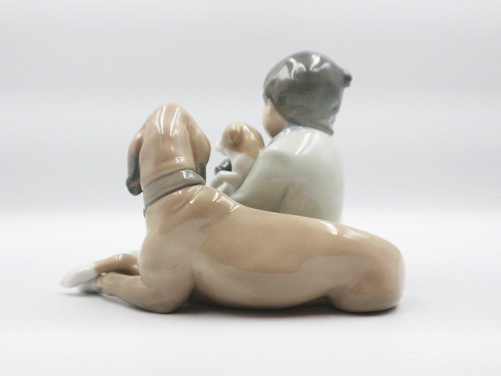 リヤドロ LLADRO 『 みんなのお友達 』 フュギュリン 犬  陶器 箱付き 廃番品 ◎