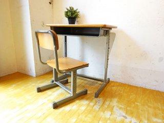 スクールデスク&チェア 学校机 椅子 つくえ 合板 高さ調整 シンプル 安全設計 フック付 可動式 スチール収納庫 教室 子供から大人まで ★