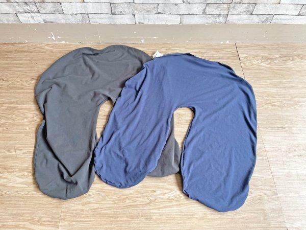 ヨギボー yogibo サポート Support ビーズソファ ビーズクッション クッション 背もたれ&肘置き ダークグレー 定価15,290円 替えカバー付 ●
