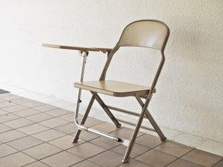 クラリン CLARIN フォールディングチェア with デスク ウッドシート 折り畳み椅子 US 米国 P.F.S 取扱 B ◇