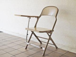 クラリン CLARIN フォールディングチェア with デスク ウッドシート 折り畳み椅子 US 米国 P.F.S 取扱 A ◇