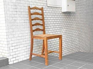 フランスビンテージ French Vintage ラダーバックチェア ladder back chair ダイニングチェア ラッシ編み ラッシシート A ■