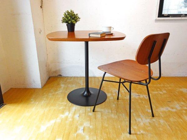 グラフ graf プランクトンテーブル Plankton table ダイニングテーブル カフェテーブル チーク材天板 スチール脚 ★