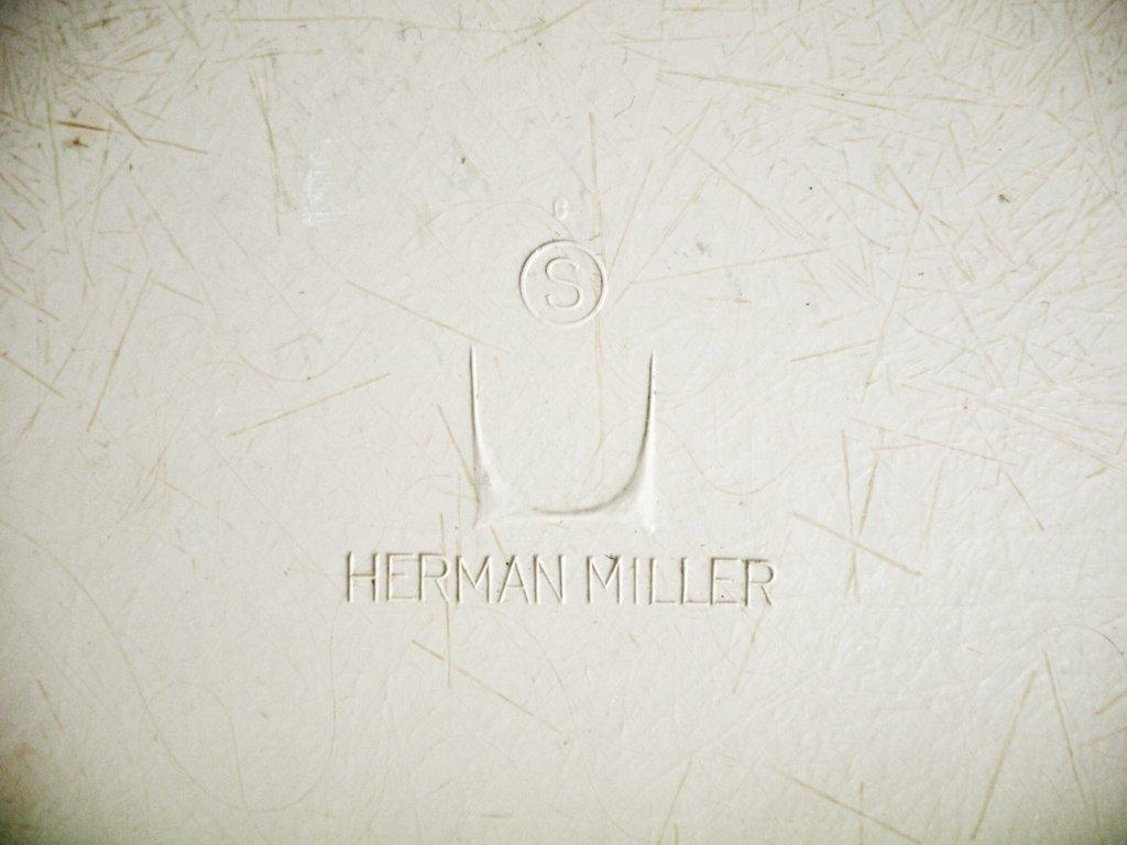 ハーマンミラー Herman Miller サイドシェルチェア エッフェルベース 1st ブラック マハラム生地 MODE チャコールグレー 3rdビンテージ イームズ ミッドセンチュリー ◇