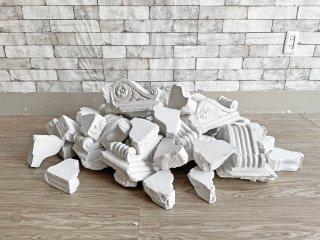 ヨーロピアンクラシカルデザイン シャビーシック ガレキ 石膏 オブジェ ホワイト ブロカント アンティークスタイル ●