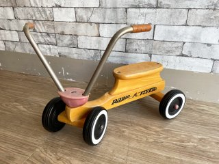 ラジオフライヤー RADIO FLYER 80's ビンテージ 木製 三輪車 キックバイク 乗用玩具 レアアイテム USA ●