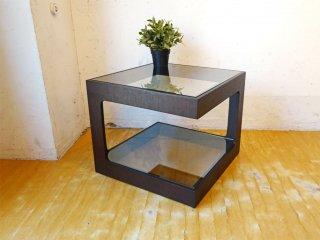 モーダエンカーサ moda en casa ダイス50 daice50 コーヒーテーブル サイドテーブル ダークブラウン ミラーガラス 定価:\31,900- ★
