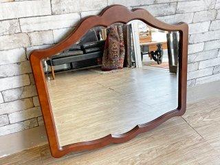 カリモク karimoku コロニアルシリーズ ウォールミラー 壁掛け鏡 クラシックカントリースタイル ●