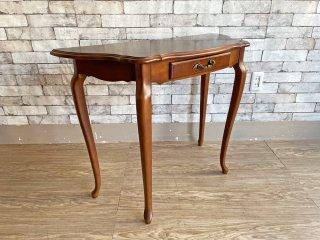 カリモク karimoku コンソール テーブル サイドテーブル 猫脚 ブラウン クラシカルデザイン ●