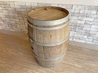 古い木味のワイン樽 カウンターテーブル 立ち呑み 店舗什器 カフェ バー ディスプレイ インテリア 空樽 大型 C 現状特価品 ●