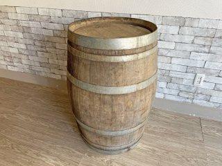 古い木味のワイン樽 カウンターテーブル 立ち呑み 店舗什器 カフェ バー ディスプレイ インテリア 空樽 大型 B 現状特価品 ●