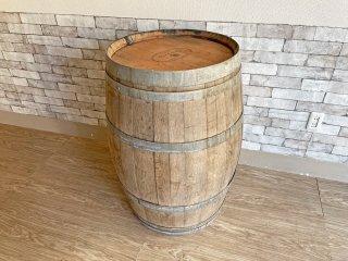 古い木味のワイン樽 カウンターテーブル 立ち呑み 店舗什器 カフェ バー ディスプレイ インテリア 空樽 大型 A 現状特価品 ●