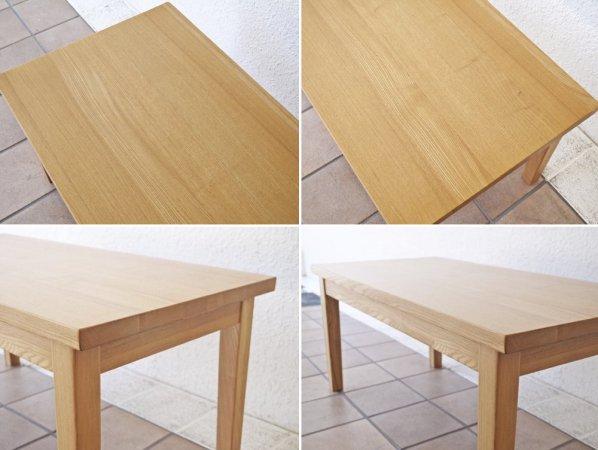 無印良品 MUJI タモ材 ローテーブル 幅90cm ナチュラル シンプル 廃番品 ◇