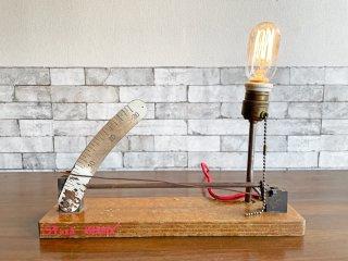 インダストリアルデザイン industrial design ビンテージ テーブルランプ メーター リメイクアイテム 現状品 ●