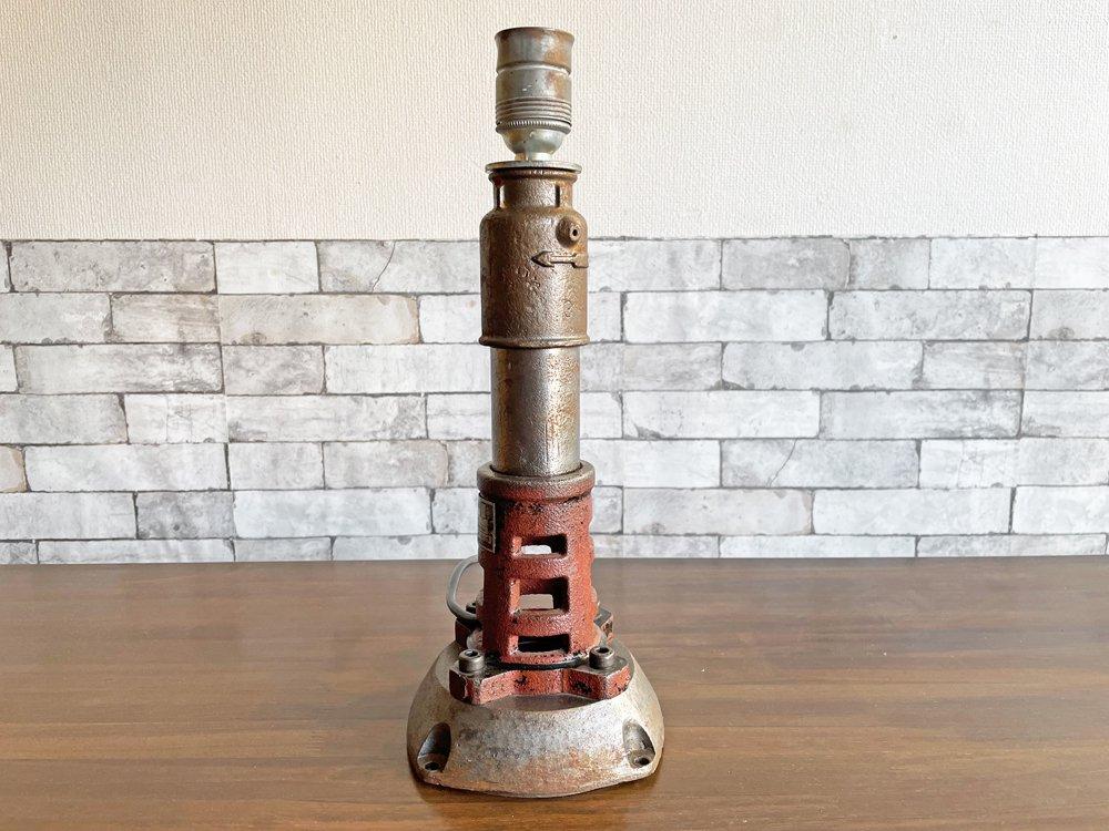 インダストリアルデザイン industrial design ビンテージ テーブルランプ リメイクアイテム チェコスロバキア ●