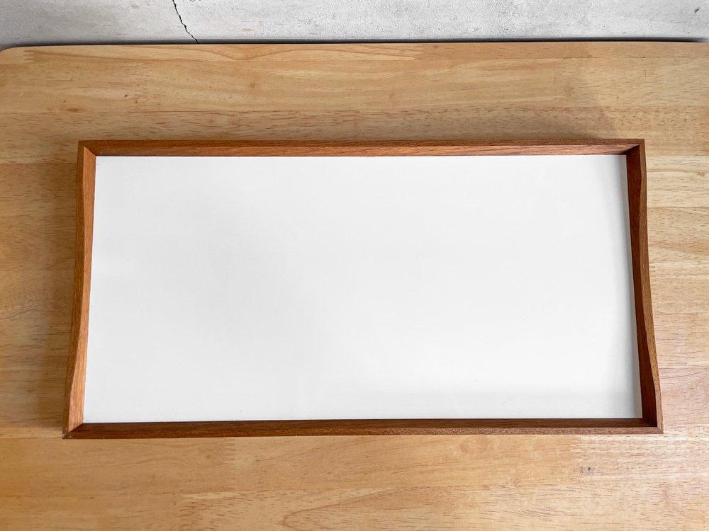 アーキテクトメイド ARCHITECTMADE ターニングトレー Turning Tray 1 W45cm フィン・ユール Finn Juhl チーク材 ホワイト × ブラック 未使用品 ♪