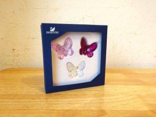スワロフスキー Swarovski クリスタル バタフライ Cristal Butterfly 蝶 オブジェ フィギュリン 3色 未使用 ★