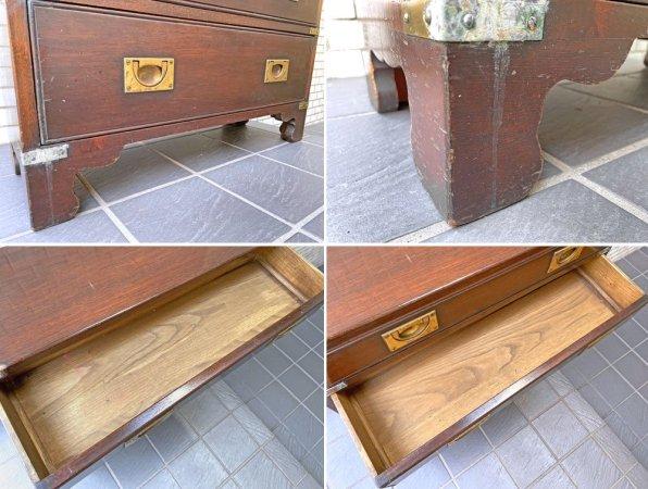 ジャパンビンテージ 木製 チェスト 5段5杯 昭和レトロ 古家具 ■