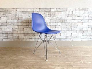 ヴィトラ vitra サイドシェルチェア ポリプロピレン製 ブルー エッフェルベース C&R イームズ Eames ミッドセンチュリー 現状品 ●