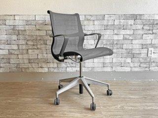 ハーマンミラー Herman Miller セトゥーチェア Setu Chair マルチパーパスチェア グレー メッシュシート 5本脚タイプ 昇降機能付 定価¥99,000- ●