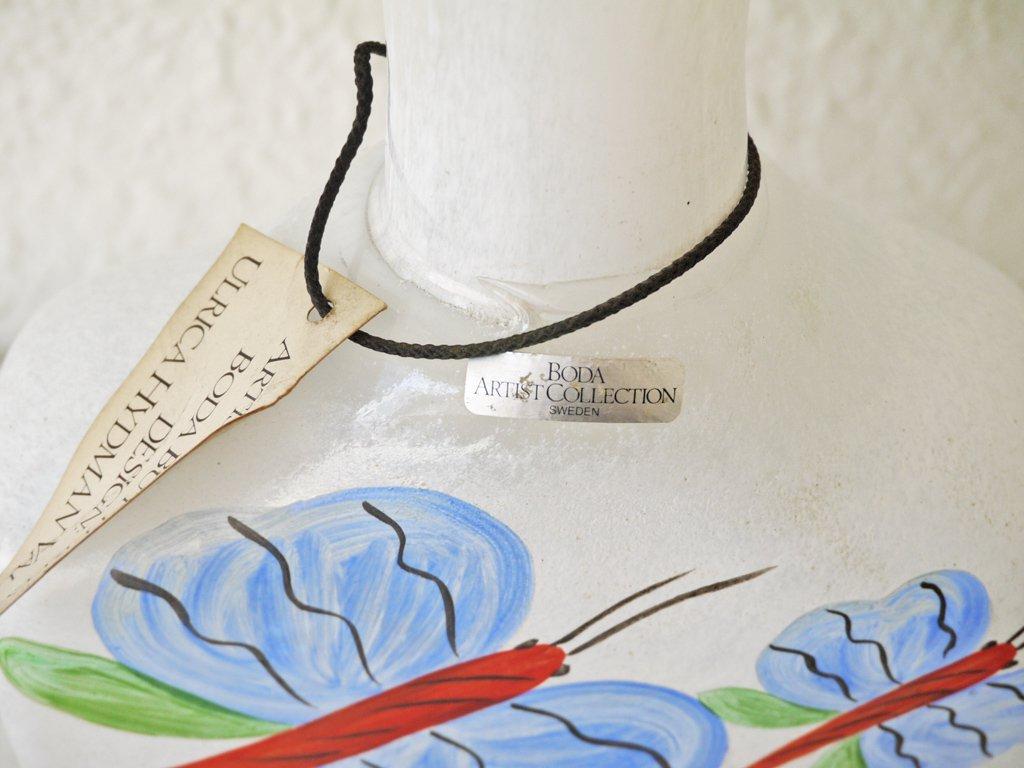 コスタボダ COSTA BODA アーティストコレクション ARTIST COLLECTION バタフライ ガラス フラワーベース ウルリカ ヒードマン ヴァリーン ビンテージ 希少品 ◇