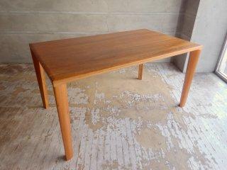 ナガノインテリア NAGANO ダイニングテーブル W135 ブラックチェリー材 無垢材 DT070-135080 ♪