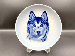 トーブ スペンセン トーブ スヴェンセン Tove Svendsen ドッグプレート ウォールプレート 絵皿 シベリアンハスキー 犬 ブルー 北欧 デンマーク ◎