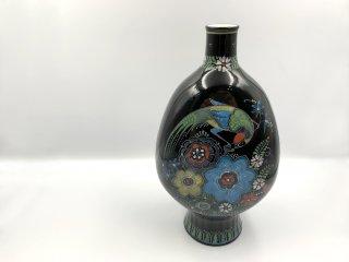 ロイヤルデルフト ROYAL DELFT ビンテージ フラワーベース 一輪挿し 花瓶 花器 ブラック 伝統工芸品 陶器 オランダ ◎