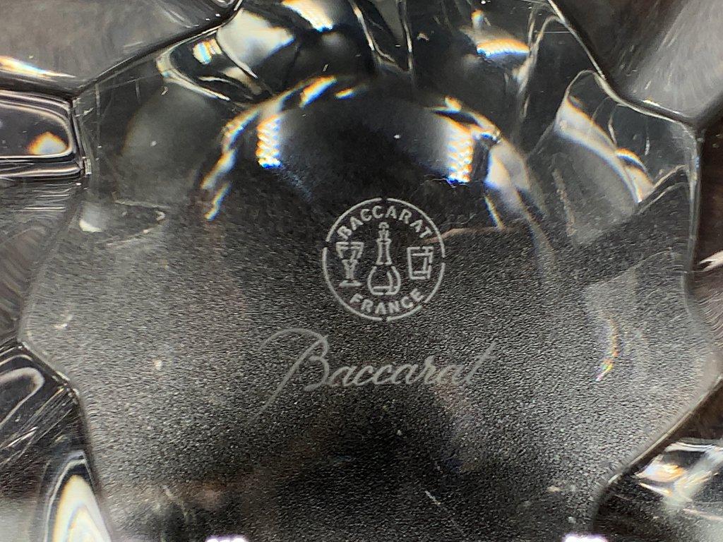 バカラ Baccarat オブジェクティフ ボウル クリスタルガラス フランス 定価6.6万円 ◎