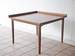 USビンテージ US Vintage ウォールナット材 コーナーテーブル サイドテーブル センターテーブル 75.5cm角 米国 ミッドセンチュリー ◇